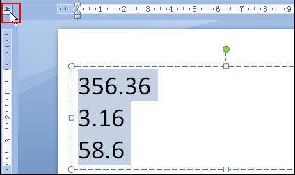Powerpoint如何快速对齐小数点2