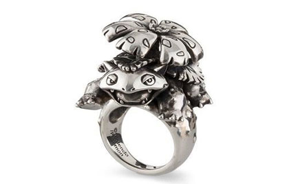 《精灵宝可梦Go》新推主题多款银制戒指:妙蛙花造型别致