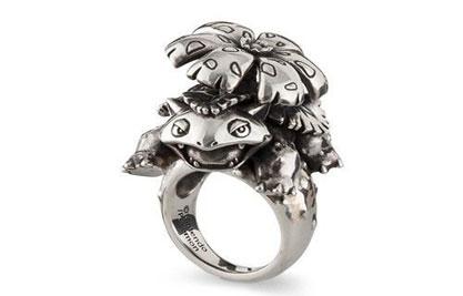 《精灵宝可梦Go》新推主题多款银制戒指:妙蛙花造型别致2