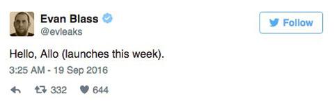 爆料大神称:Allo于本周推出