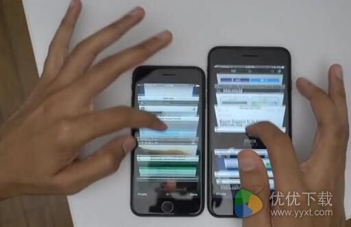 iPhone 7 plus iPhone 7速度对比图