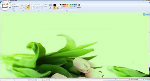 电脑自带的画图工具怎么调整图片的大小2