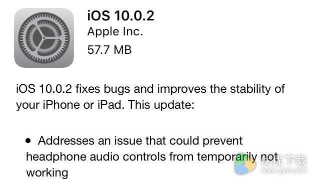 苹果iOS10.0.2修复了什么