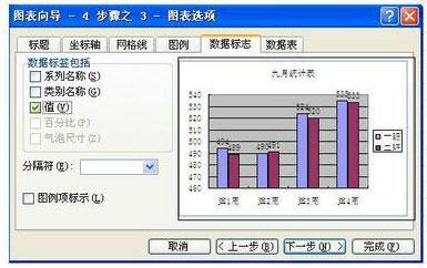 excel怎么将表格数据图形化8