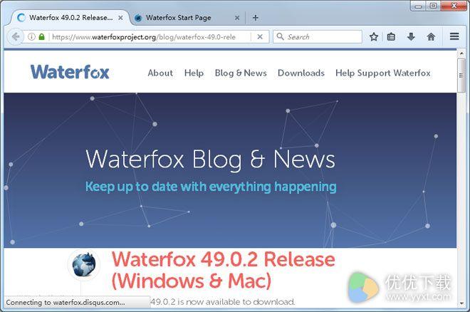 Waterfox官方版 V49.0.2 - 截图1