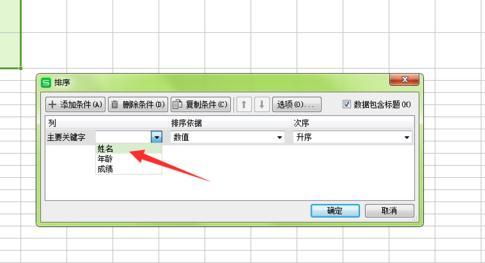在wps表格中怎么设置按姓氏排序4