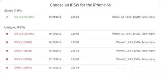 苹果关闭iOS 9.3.5/10.0.1刷机验证2