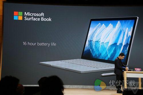 微软Surface Book全新发布!电池续航达到16小时3