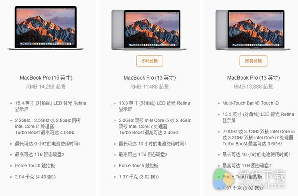 MacBook Pro 2016配置介绍