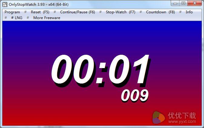 OnlyStopWatch绿色版 V3.93 - 截图1