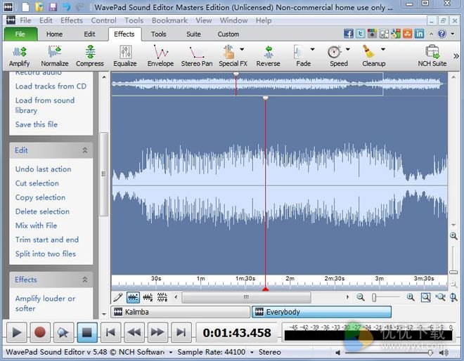 WavePad英文版 V6.61 - 截图1