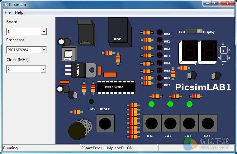 PICsimlab(微控制模拟器)官方版 v0.6 - 截图1