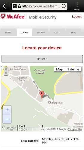 McAfee手机杀毒安卓版 v4.7.1.853 - 截图1