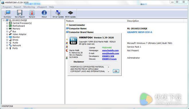 HWiNFO64免费版 V5.39 - 截图1