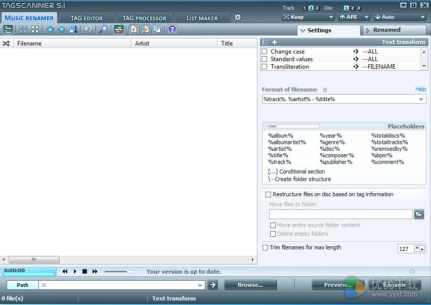 TagScanner免费版 V6.0.17 - 截图1