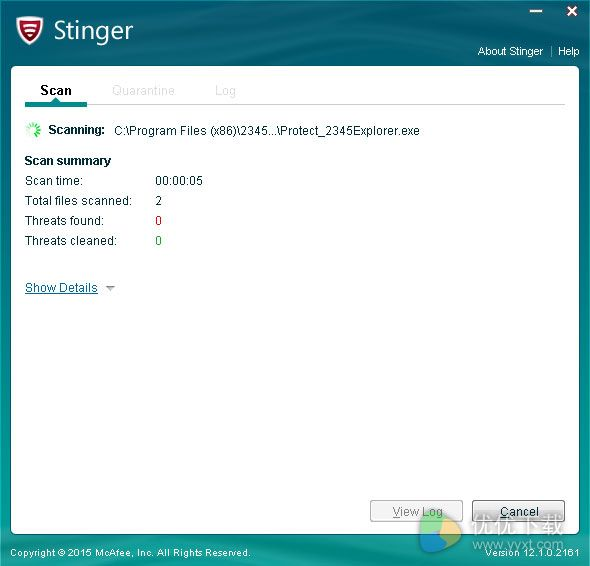 McAfee AVERT Stinger 64位免费版 V12.1.0.2161 - 截图1