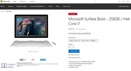 i7版Surface Book系列大降价 最低只需13000