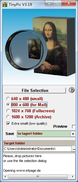 TinyPic(图像批量调整)绿色版 V3.19 - 截图1