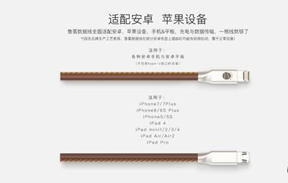 鲁大师推鲁蛋数据线:苹果lightning和安卓Micro接口合二为一