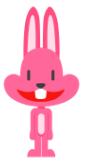粉红大嘴兔表情包免费版