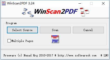 WinScan2PDF(PDF转换器)绿色免费版 - 截图1
