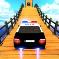 警车特技超级斜坡ios版 V1.0