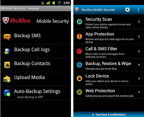 McAfee手机杀毒(系统安全) v4.4.0 for Android安卓版 - 截图1