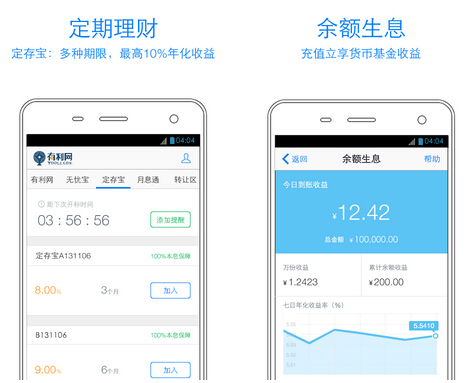 有利网理财(金融理财) v2.7.0 for Android安卓版 - 截图1