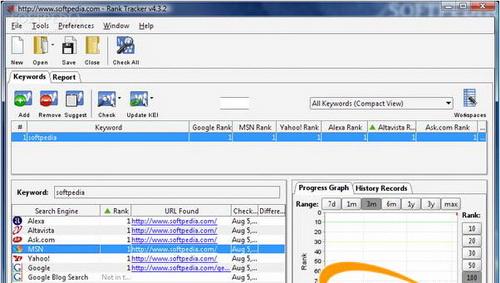 Rank Tracker 7.2.6(网站关键字检查) - 截图1
