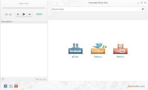 Freemake Music Box 1.0.4.3(在线音乐) - 截图1