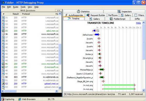Fiddler 4.5.1.0(web调试代理) - 截图1