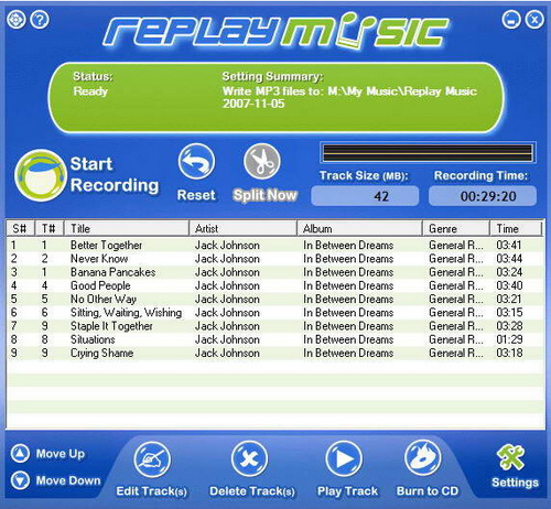 Replay Music 7.0.0.71(终端流音乐记录器) - 截图1