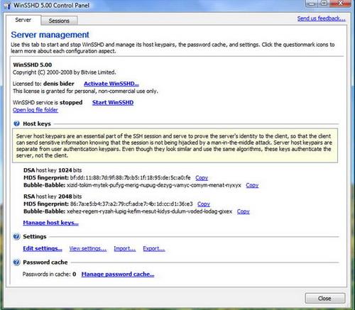 WinSSHD 6.31(远程桌面) - 截图1