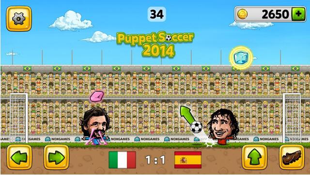 傀儡足球2014(绿茵赛场) v1.0.69 Android安卓版 - 截图1