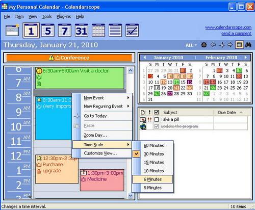 Calendarscope 7.5.0(记事管理) - 截图1