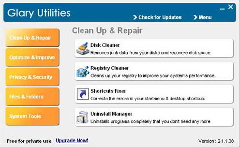Glary Utilities Free 5.25.0.44(多功能系统工具) - 截图1