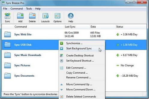 Sync Breeze 7.4.32(文件同步助手) - 截图1