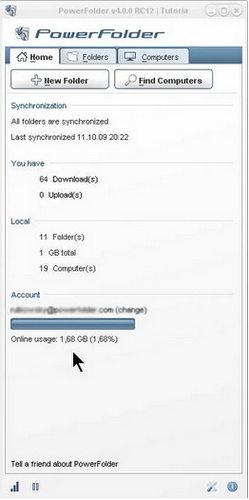 PowerFolder 10.2.128(同步备份工具) - 截图1