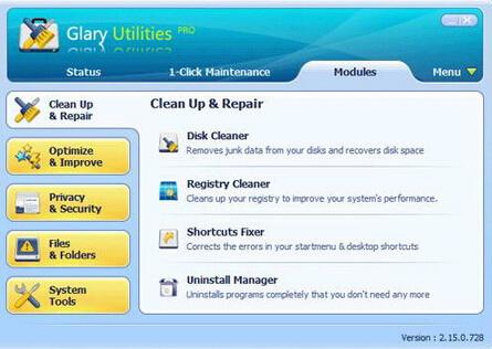 Glary Utilities pro 5.26(系统工具大师) - 截图1