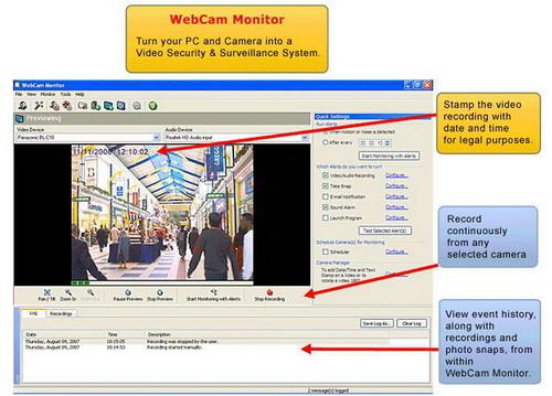 WebCam Monitor 6.1(网络摄影机) - 截图1