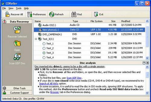 CDRoller 10.2.80(CD数据恢复专家) - 截图1