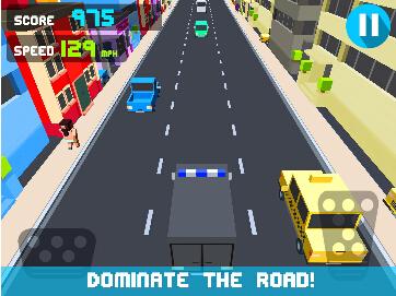 公路飚车(像素游戏) v1.0.1 for Android安卓版 - 截图1