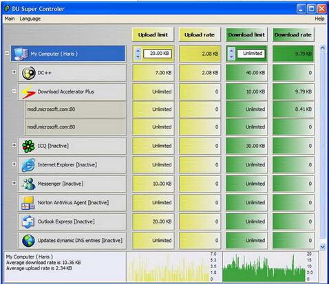 DU METER 7.06(网络流量监视器) - 截图1