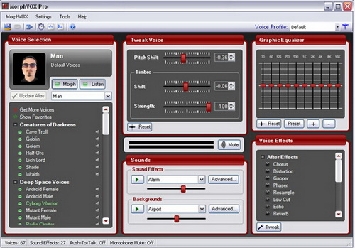 MorphVOX Pro 4.4.26(语音变声专家) - 截图1
