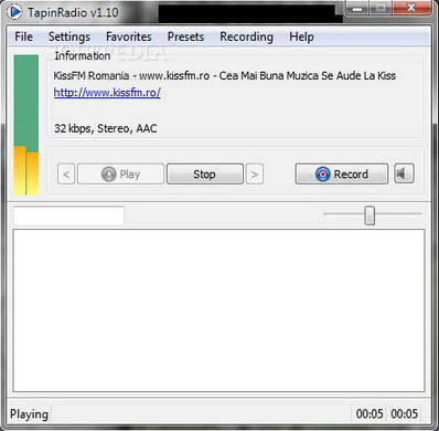 TapinRadio 1.70.1(网络电台收音机) - 截图1