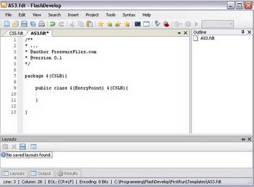FlashDevelop 5.0.0.2(编辑工具) - 截图1