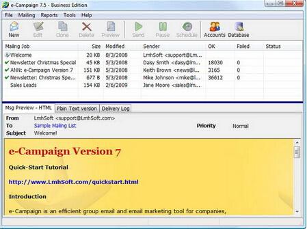 e-Campaign 11.0(电子邮件处理软件) - 截图1