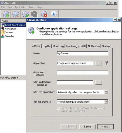 AlwaysUp 9.1(系统管理软件) - 截图1