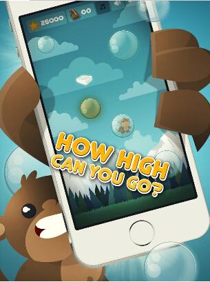 泡泡熊(泡沫跳跃) v1.0 for Android安卓版 - 截图1