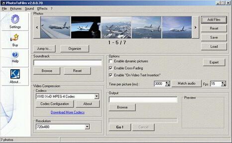 PhotoToFilm 3.2.0.81(图片转换视频电影工具) - 截图1